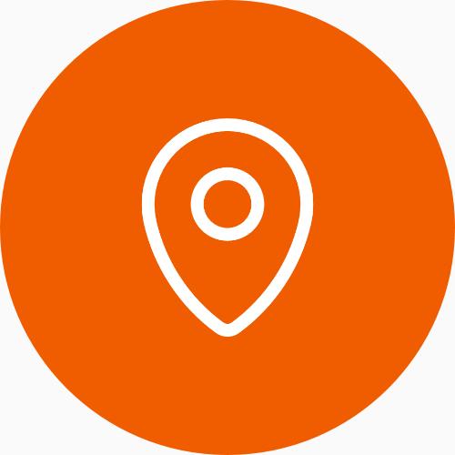 Alfinete de mapa representando um só lugar